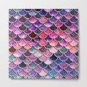 Pink & Purple Trendy Glitter Mermaid Scales by betterhome