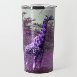 Wild Giraffe in Pink Travel Mug