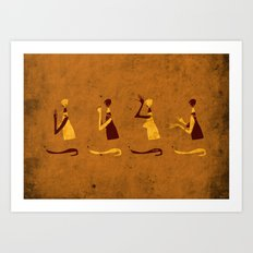 Forms of Prayer - Yellow Art Print