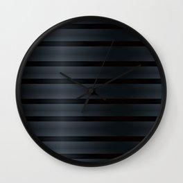 Black Silk Stripes Wall Clock