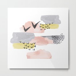 Abstract Minimal Cloudy shapes Metal Print