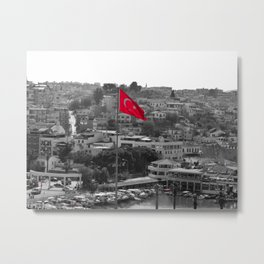Flag of Turkey POP Metal Print