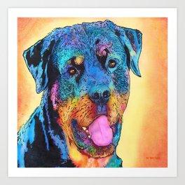 Rottweiler dog. Art Print