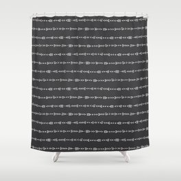 Tribal Arrows - Hand Drawn Illustration, Abstract Pattern Shower Curtain