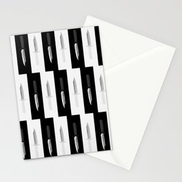 Double Dark & White Knives Stationery Cards