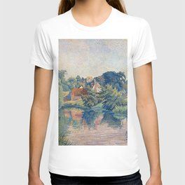 Lucien Pissarro - The Stour at Stratford St Mary, Colchester T-shirt