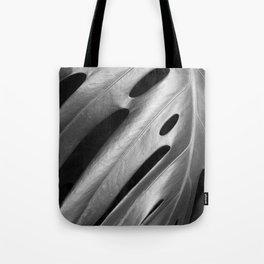 Monstera leaf tropical art Tote Bag