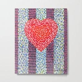 High Energy Squiggle Heart - Impressionist Heart Art Metal Print