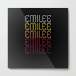 Emilee Name Gift Personalized First Name Metal Print