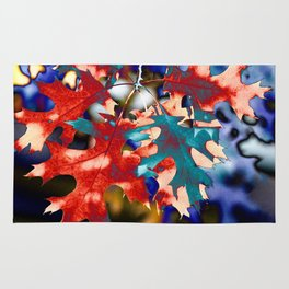 BRIGHT, ABSTRACT AUTUMN LEAVES Rug
