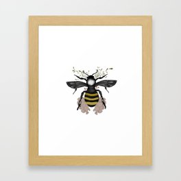 The bee is here Framed Art Print