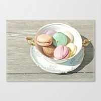 macarons Canvas Prints featuring Macarons by Catching Sundust