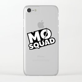 MØ Squad Logo with black background Clear iPhone Case