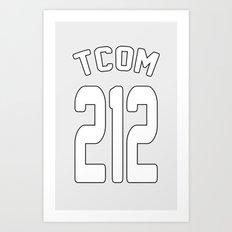 TCOM 212 AREA CODE JERSEY Art Print