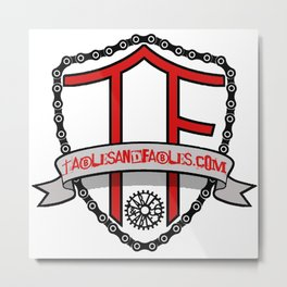 """Tables and Fables """"Shield"""" Logo (version 1) Metal Print"""