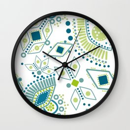 Ethnic pattern . Eye 2 . Wall Clock