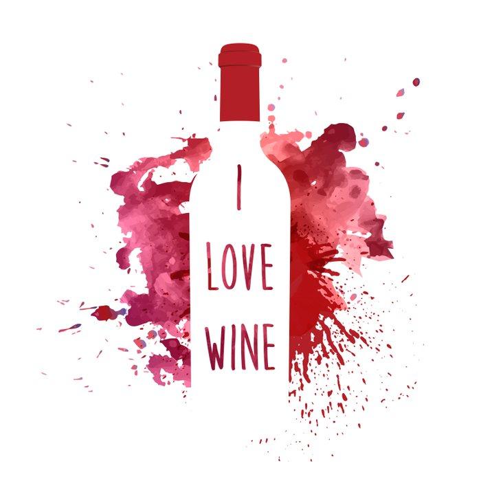 wine bottle Duvet Cover