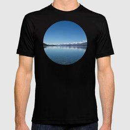 Blue line landscape T-shirt