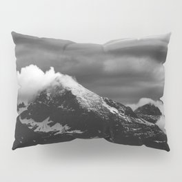 White clouds over the dark mountains Pillow Sham