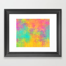 Light and Geometry Framed Art Print