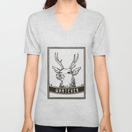 Whatever - Deer with saying Unisex V-Neck