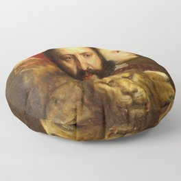 Titian The Allegory of Prudence Floor Pillow