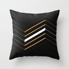 Crunchy Lines, No. 3 Throw Pillow