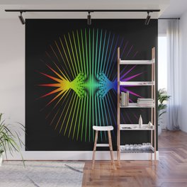 Sound Waves. Neon dark matter wave oscillations Wall Mural