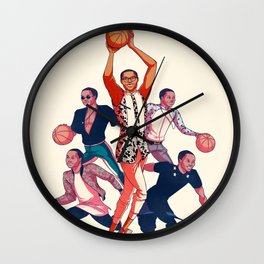 Crowning the Fashion King Wall Clock