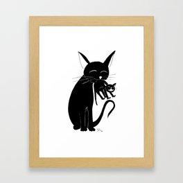 Mama Cat Framed Art Print