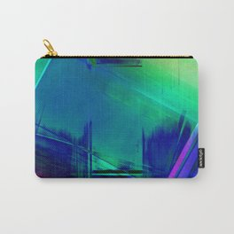Blue Glitch - No Way Out Abstract Painting Carry-All Pouch