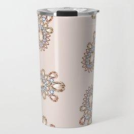 Jewelbox: Morganite Brooch in Light Blush Travel Mug
