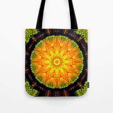 Citrus Slice Kaleidoscope Tote Bag