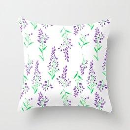 Purple Delphinium Throw Pillow