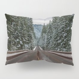 Winter Road Trip - Pacific Northwest Nature Photography Pillow Sham