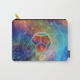 Abstract Sacred Geometry Cosmic Space Tapestry Carry-All Pouch