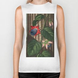 Winged Passion Flowers : Temple of Flora Biker Tank