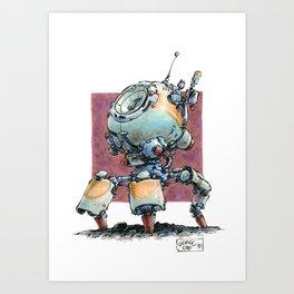 Mobile Relay Bot Art Print