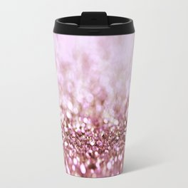 Pink Sparkle shiny glitter effect print - Sparkle Valentine Backdrop Travel Mug