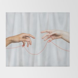 red string of fate Throw Blanket