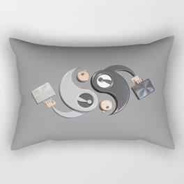 Yin and Yang Rectangular Pillow