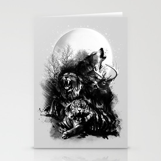 Call of the Wild (GRAY) Stationery Cards