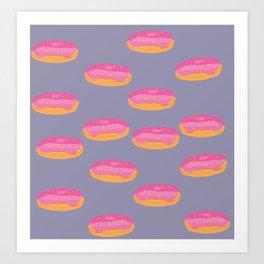 Strawberry Donuts Art Print