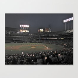 Baseball at night Canvas Print