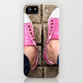 Pink sneakers. iPhone Case
