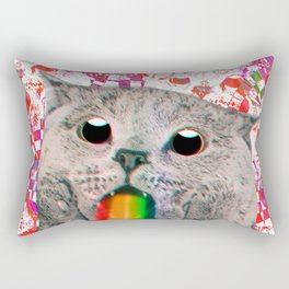 Meme Cat Rectangular Pillow