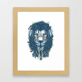 Lion with Dreadlocks Framed Art Print
