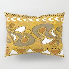TRIBAL STAMP | gold brown putty Pillow Sham