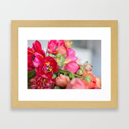 Fiery Red Flowers Framed Art Print