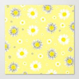 Daisies - Yellow Canvas Print